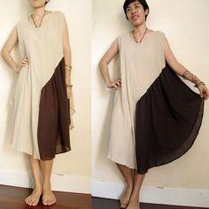 Boho Simply Soft Cotton Patchwork  Flare Dress S - XL  (M)