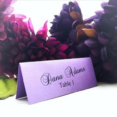 Beautiful wedding place cards now available in shimmered colors including white, blush pink, ivory, purple, lilac, silver, champagne, gold, red, floral, blue and mint!