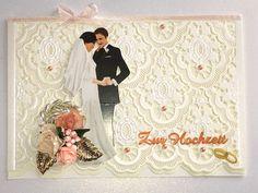 Hochzeitskarten - Karte zur Hochzeit Nr. 581 - ein Designerstück von MM-Bastelparadies bei DaWanda Etsy, Newlyweds, Things To Do, Flowers, Gifts, Crafting