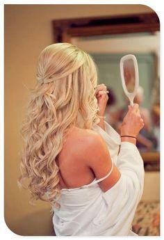 My hair for Christina's wedding! 8-9-14 :)