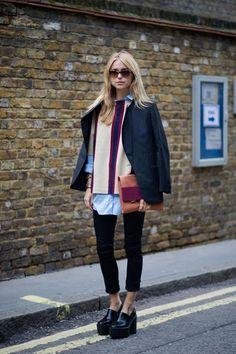 London fashion week street style: Dries Van Noten jumper in-store @Heather Creswell Dickinson of Belfast