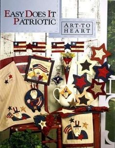 Easy Does It Patriotic Quilt Book Nancy Halvorsen Art to Heart Military USA  #ArtToHeart