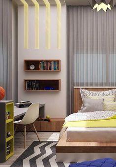 100 Quartos de Adolescentes com Fotos Inspiradoras! Cheap Houses, Black Floor, Diy Room Decor, Home Decor, Kids Bedroom, Photo Wall Art, Small Spaces, Flooring, Furniture