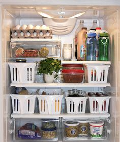 When you're forced to jam groceries into even the farthest corner, it's a total hassle to retrieve them later. Deep bins mean you can pull out sections of stuff in one quick movement — and avoid the daily excavation at dinnertime. See more at One Good Thing By Jillee »   - GoodHousekeeping.com