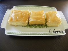 Galaktompoureko is possibly the king of sweets for many in Greece.  A twist on the classic recipe filled with a fabulous semolina lemon curd cream, which lies in between thin layers of crispy phyllo which are bathed in a lemony syrup. Ivy's Lemony Galaktoboureko http://kopiaste.org/2013/05/ivys-lemony-galaktoboureko/ In Greek: Το Λεμονάτο Γαλακτομπούρεκο της Ήβης http://www.kopiaste.info/?p=11143