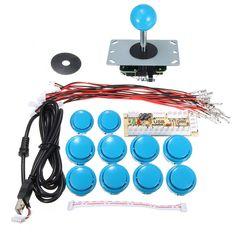 Controlador USB de Juegos Arcado Retraso Cero Kit de Palanca de Mando para MAME