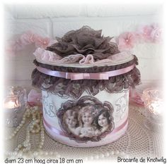 brocante de Knotwilg Shabby Boxes, Altered Boxes, Shabby Vintage, Sewing, Cartonnage, Dressmaking, Couture, Stitching, Sew