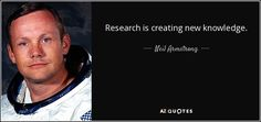 Research is creating new knowledge.
