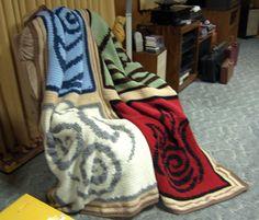 Avatar: The Four Elements - Kim Kiser  AMAZING instructions for the blanket!