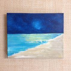 "'Starry, Starry Night' Original acrylic on canvas 8"" x 10"" www.willowwishdesigns.etsy.com"
