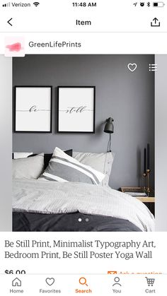 Man's Bedroom, Typography Art, Wall Collage, Guest Room, Minimalist, Furniture, Home Decor, Decoration Home, Room Decor