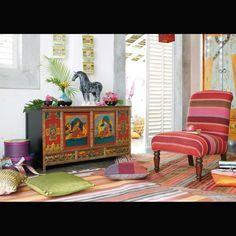 Meuble tibétain - déco indienne
