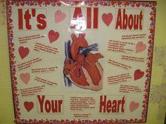 Valentines day bulletin board