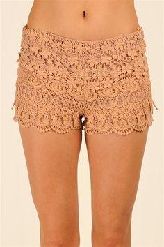 Lucky Crochet Shorts - Pink