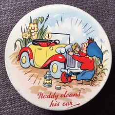 Huntley and Palmers Noddy Cleans His Car 2 Tin 1956 | eBay