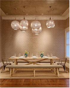 This is the lighting I WANT for the dining room!