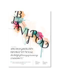 """collab/combi """"Hybrid Typeface"""" Amalia Frederick"""