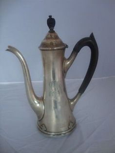 """CARMEL BY WALLACE STERLING SILVER DEMITASSE POT 1 PINT 9"""" #Wallace"""