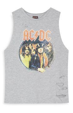 Grey AC DC T-Shirt