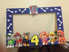 custom paw patrol photo frame by EmmyzCustomDecor on Etsy