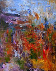 Mémoire de Mont Ste Victoire, Oil on Canvas by Pamela Holl Hunt