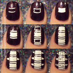 Bones for your nails! The rest of the tutorial is on my blog: http://glitterfingersss-en.blogspot.hu/2014/10/tutorial-bones.html