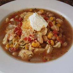 Chicken Vegatable soup  Verry good even if not on a diet!