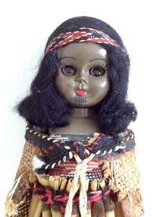 Vintage Maori Doll from NZ New Zealand Souvenir Maori by detteryan