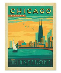 Look at this 'Chicago' Lake Michigan Print on #zulily today!
