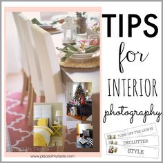 Tips for interior photography