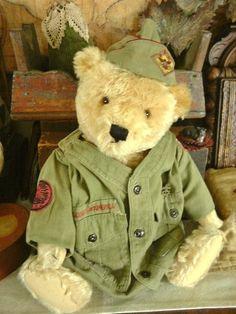 "ANTIQUE VINTAGE STEIFF 19"" TEDDY BEAR"