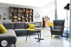 LA ZONA RELAX :: Gli arredi di design anni '50 che @IKEA Italia  ha riproposto negli ultimi anni trovano spazio nel progetto incentivando lo stile moderno e retrò richiesto dalla committenza. #casa #interni #interior #design #home