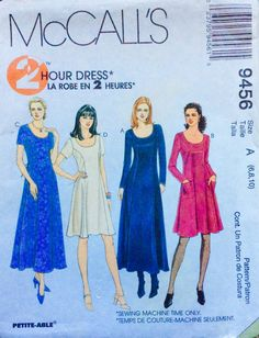 McCall's 9456 UNCUT Misses Dress in two lengths by Lonestarblondie on Etsy