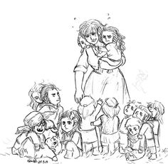 baby dwarves with fem Bilbo