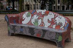 Mosaic social sofa