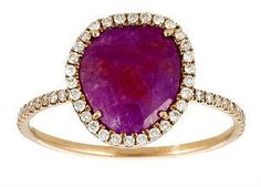 Pink Gold Pink Sapphire and Diamond Ring