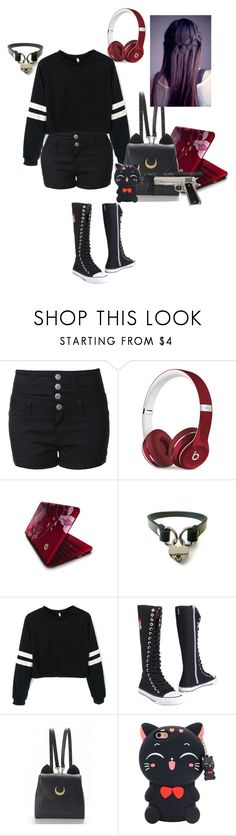 """""""Millie going out for a bit"""" by bec1995 ❤ liked on Polyvore featuring Glamorous, Beats by Dr. Dre, Vivienne Tam, Cover Your Bones and WithChic"""