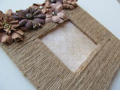 Twine Jute Picture Frame Rustic Home Decor by 2GirlsForever, $11.95