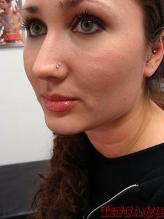 double nose piercing Double Nostril Body Piercing by Tiffany Nose Piercing Placement, Nose Piercing Care, Double Nostril Piercing, Cute Nose Piercings, Nose Piercing Jewelry, Fake Piercing, Body Piercings, Nose Piercing Infection, Mens Ear Studs