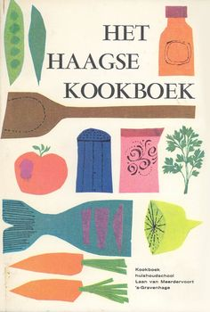 vintage cookbook colorful palette