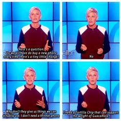 I know there is a typo on the first picture but I LOVE Ellen :) I've been saying this!