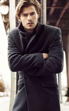 men's fashion black jacket