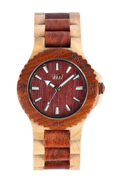 I like the idea of a  watch with nontraditional materials (such as, say, wood). I don't think the finishes on this are quite what I'm looking for. I imagine it's relatively comfortable to wear, though. $119.