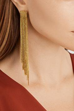 Erickson Beamon Velvet Underground gold-plated Swarovski crystal earrings NET-A-PORTER.COM