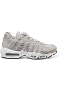 Nike | Air Max 95 embossed suede and canvas sneakers | NET-A-PORTER.COM