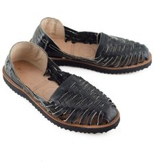 It takes the Guatemalan artisans 3 hours to make each pair!Woven Leather Huarache. Loom-Made (AZO free) Cotton Fabric Top. They run small. Order up a size if you are half size.If they don't fit perfectly, free returns & exchanges (within US and US Territories).