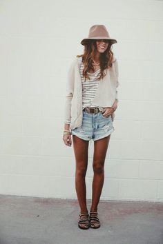 Cut off boyfriend shorts, yes please :)