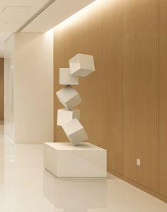 Interior design, architecture, and engineering - offices in Beijing and Shanghai Geometric Sculpture, Abstract Sculpture, Sculpture Art, Paper App, Steel Sculpture, Space Architecture, Installation Art, Metal Art, Diy Art