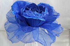 """Купить Шляпка роза """"Дары Посейдона"""" - цветы из ткани, обруч для волос, обруч с цветами"""