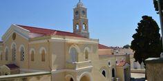 Ι.Ν. του Αγίου Γεωργίου | SyrosmapO Ιερός Ναός του Αγίου Μεγαλομάρτυρος Γεωργίου είναι τρίκλιτη βασιλική. Χτίστηκε το 1833 και εγκαινιάστηκε από τον Μητροπολίτη Κυκλάδων Αθιμο το 1839. Notre Dame, Building, Travel, Viajes, Buildings, Destinations, Traveling, Trips, Construction